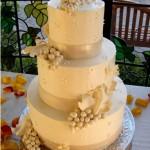 Winery grapes wedding cake