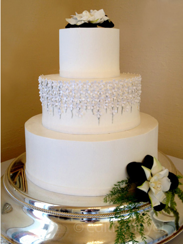 Wedding dress detail cake