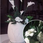 Wedding cake shaped like a vase