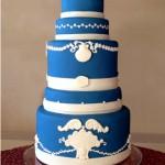 Wedgwood wedding cake cake