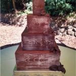 Faux wood chocolate cake