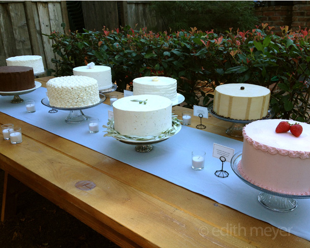 Wedding Cake buffet Santa Cruz