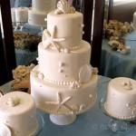 Fondant shells wedding cake