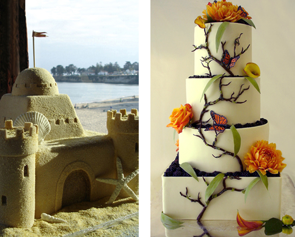 Image of decorative wedding cakes